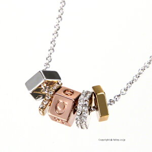 COACH コーチ ネックレス Triple Color Ring Necklace ペンダント C0212 SVE1L