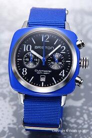 BRISTON ブリストン 腕時計 Clubmaster Chronograph (クラブマスター クロノグラフ) ブラック(シルバー)×ブルー 13140.SA.286.1.NBLE 【ブリストン 時計】【あす楽】