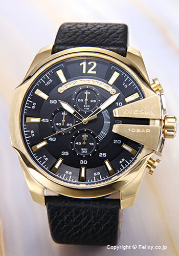 DIESEL ディーゼル DZ4344 腕時計 メンズ ブラック×ゴールド