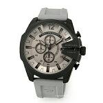 【DIESEL】ディーゼル腕時計MegaChiefChronograph(メガチーフクロノグラフ)ガンメタル×ブラック/グレーラバーストラップDZ4496