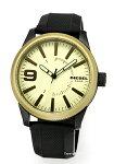 【DIESEL】ディーゼル腕時計Rasp(ラスプ)ベージュゴールド×グリーン/ブラックラバーストラップDZ1875