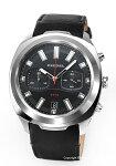 【DIESEL】ディーゼル腕時計Tumbler(タンブラー)ブラック/ブラックレザーストラップDZ4499