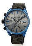 【DIESELディーゼル腕時計MS9CHRONO(エムエスナインクロノ)グレー×ブルー/ダークグレーナイロンストラップDZ4506