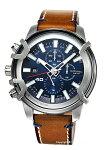 【DIESEL】ディーゼル腕時計Griffed(グリフド)ネイビー×ブラウンDZ4518