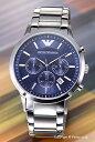 エンポリオアルマーニ 腕時計 メンズ EMPORIO ARMANI Classic Collection Chronograph (クラシック コレクション クロノグラフ) ブルー AR2448 【あ
