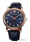 【EMPORIOARMANI】エンポリオ・アルマーニ腕時計Luigiネイビー×ローズゴールド/ネイビーレザーストラップAR11135