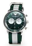 【EMPORIOARMANI】エンポリオ・アルマーニ腕時計Aviator(アビエーター)グリーンAR11221