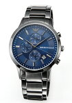 【EMPORIOARMANI】エンポリオアルマーニ腕時計RenatoChronograph(レナートクロノグラフ)ネイビー×ガンメタルAR11215