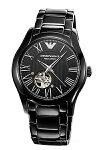 【EMPORIOARMANI】エンポリオ・アルマーニ腕時計ValenteMeccanico(バレンテメカニコ)オールブラックAR60014