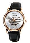 【EMPORIOARMANI】エンポリオ・アルマーニ腕時計LuigiMeccanico(ルイージメカニコ)シルバー×ローズゴールド/ブラックレザーストラップAR60031
