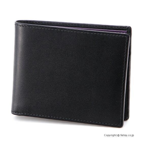 エッティンガー ETTINGER メンズ財布 小銭入れ付き二つ折り ST141JR BLACK×PURPLE