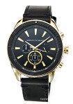 【ArmaniExchange】アルマーニエクスチェンジ腕時計Enzo(エンツォ)ブラック×ゴールド/ブラックレザーストラップAX1818
