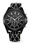 【ArmaniExchange】アルマーニエクスチェンジ腕時計Drexler(ドレクスラー)オールブラック/ブラックモザイクレザーストラップAX2628
