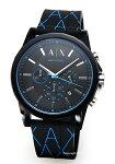【ArmaniExchange】アルマーニエクスチェンジ腕時計OuterBanksChronograph(アウターバンクスクロノグラフ)ブラック×ブルーモノグラムAX1342