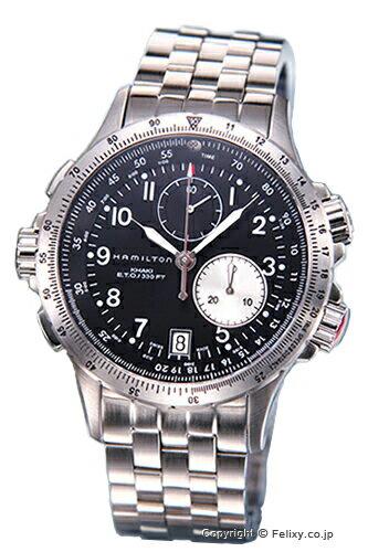 ハミルトン 腕時計 HAMILTON Khaki E.T.O(カーキ イーティーオー) ブラック メンズ H77612133