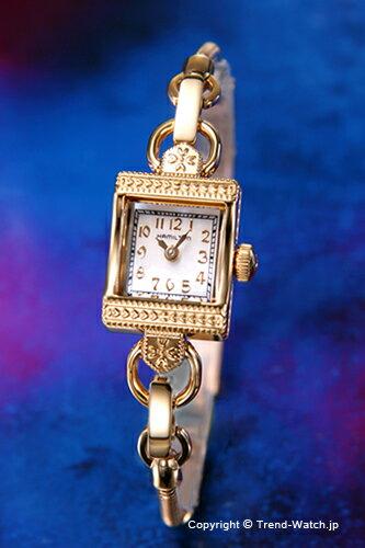HAMILTON ハミルトン 腕時計 レディース Lady Hamilton Vintage (レディ ハミルトン ヴィンテージ) GP/ホワイトシェル H31231113