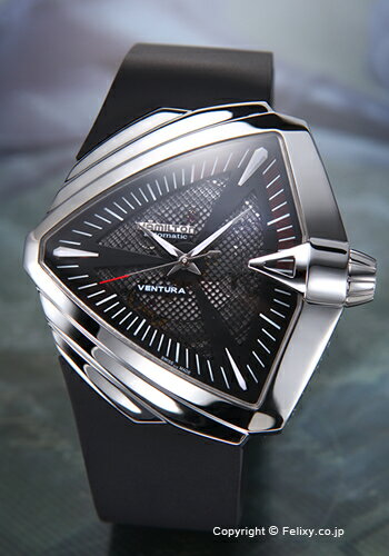 ハミルトン 腕時計 メンズ HAMILTON Ventura XXL Auto (ベンチュラ XXL オート) ブラック/ブラックラバーストラップ H24655331