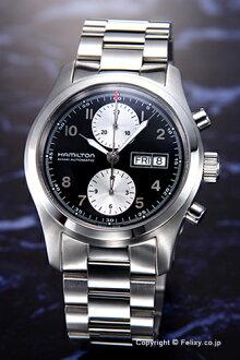 漢密爾頓漢密爾頓手錶卡其野戰自動計時表黑 / 銀 H71566133