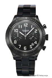 キャサリンハムネット 時計 KATHARINE HAMNETT 腕時計 メンズ レトロミリタリー クロノ オールブラック KH23E3-B31 【あす楽】