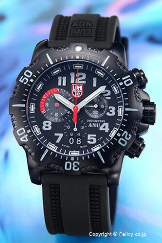 ルミノックス LUMINOX 腕時計 メンズ ANU クロノグラフ オールブラック 4241.NV 【あす楽】