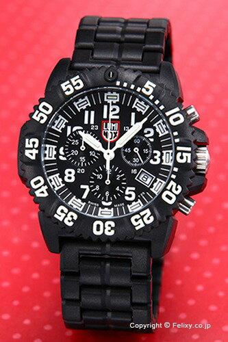 ルミノックス LUMINOX 腕時計 NAVY SEALs COLORMARK CHRONOGRAPH 3080 SERIES (カラーマーク クロノグラフ) ブラック 3082 【あす楽】