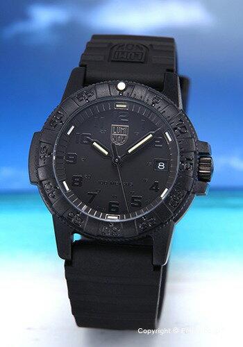 ルミノックス 時計 LUMINOX 腕時計 LEATHERBACK SEA TURTLE 0300SERIES ブラックアウト 0301.BO