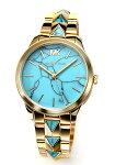 【MICHAELKORS】マイケルコース腕時計RunwayMercerTurquoise(ランウェイマーサーターコイズ)ゴールドMK6670
