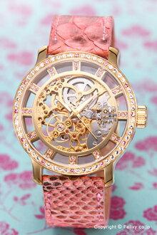 mook手錶MOOG Skeleton(骨架)玫瑰黄金/粉紅女士M44692-004