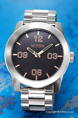 ニクソン NIXON 腕時計 コーポラル SS グレー/ローズゴールド A3462064 【あす楽】