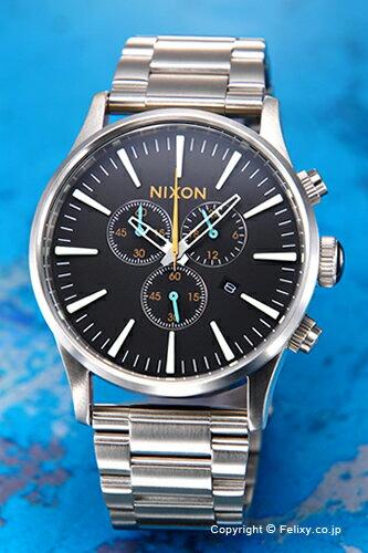 ニクソン 腕時計 NIXON セントリー クロノ ブラック/マルチ A3862336 【あす楽】