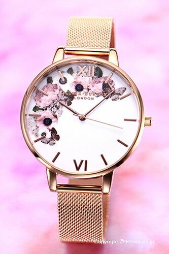 オリビアバートン OLIVIA BURTON 腕時計 WINTER GARDEN ROSE GOLD MESH OB16WG18 【あす楽】