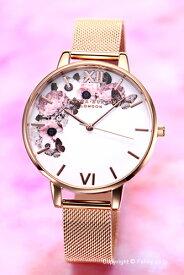 オリビアバートン レディース 時計 OLIVIA BURTON 腕時計 WINTER GARDEN ROSE GOLD MESH OB16WG18 【あす楽】
