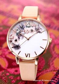オリビアバートン レディース 時計 OLIVIA BURTON 腕時計 WATERCOLOUR FLORALS NUDE PEACH&ROSE GOLD OB16PP30