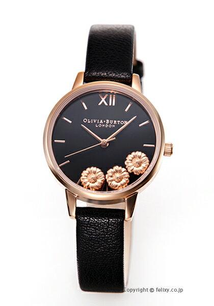 オリビアバートン レディース 時計 OLIVIA BURTON 腕時計 DANCING DAISY BLACK & ROSE GOLD OB16CH05 【あす楽】