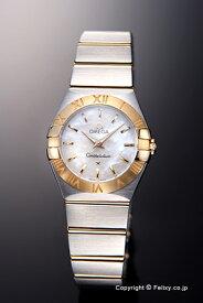 OMEGA オメガ 腕時計 レディース Constellation Quartz 24mm (コンステレーション クォーツ) ホワイトパール×イエローゴールド 123.20.24.60.05.002 【オメガ 時計】