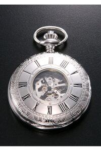 ラポート 懐中時計(ポケットウォッチ) RAPPORT 手巻き ハーフスケルトン PW57