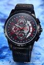サルバトーレマーラ 腕時計 メンズ Salvatore Marra オールブラック(レッド) SM13119S-IPBKRD