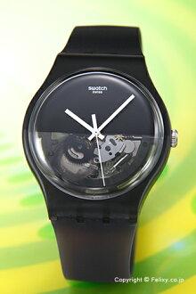 Swatch手錶SWATCH NEW GENT DIPBLACK(紐金特浸泡的黑色)半骨架SUOB116