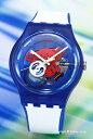 SWATCH スウォッチ 腕時計 NEW GENT CLOWNFISH BLUE (ニュージェント クラウンフィッシュ ブルー) スケルトン SUON112