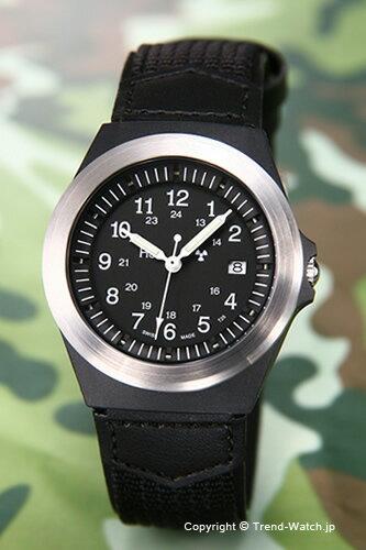 トレーサー TRASER 腕時計 Type 3 (タイプ3) ブラック/ブラックテキスタイルレザーストラップ P5900.506.33.11【トレーサー 時計】