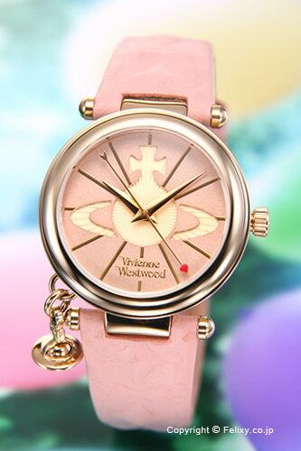 Vivienne Westwood ヴィヴィアンウエストウッド レディース腕時計 ピンク×ゴールド VV006PKPK 【あす楽】
