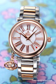 Vivienne Westwood ヴィヴィアン ウエストウッド レディース腕時計 Orb (オーブ) ホワイトパール×ローズゴールド VV006PRSSL