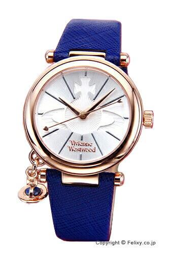 ヴィヴィアン ウエストウッド Vivienne Westwood 腕時計 オーブ ポップ シルバー×ローズゴールド/ブルーレザーストラップ VV006RSBL 【あす楽】
