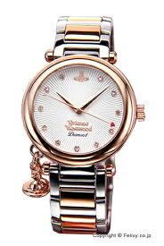 ヴィヴィアン ウエストウッドVivienne Westwood 腕時計 オーブ ダイヤモンド シルバー×ローズゴールド VV006SLRS