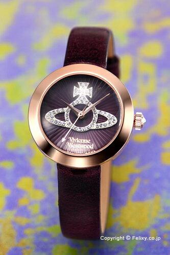 ヴィヴィアン ウエストウッド Vivienne Westwood 腕時計 Queensgate (クイーンズゲート) パープル×ローズゴールド VV150RSPP