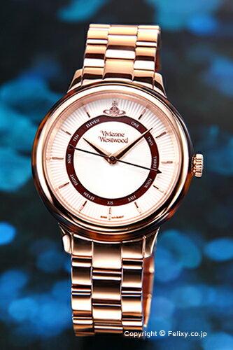 ヴィヴィアン ウエストウッド Vivienne Westwood 腕時計 Portobello (ポルトベッロ) シルバー×ローズゴールド レディス VV158RSRS