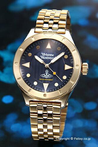 ヴィヴィアン ウエストウッド Vivienne Westwood 腕時計 Smithfield (スミスフィールド) ネイビー×ゴールド VV160NVGD
