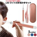 LED付 耳かき ピンセット 収納ケース付き ライト付き アイディア商品 耳掃除【送料無料】