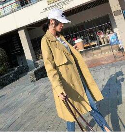 スプリングコート レディース コート トレンチ ミドル丈 アウター 体型カバー デザイン トレンチ 大人可愛い 綺麗 カジュアル シンプル 普段使い お呼ばれ 通勤 オフィス 大人女子 シック 折襟 スタンドカラー