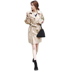 スプリングコート レディース コート トレンチ ミドル丈 アウター 体型カバー 袖あり 長袖 大人可愛い 綺麗 カジュアル シンプル 普段使い お呼ばれ 通勤 オフィス 大人女子 ゆったり ゆるい ワンピース オーバーサイズ